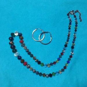 Joan River necklace and earrings